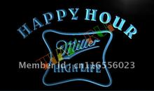 LA617- Miller High Life Happy Hour Bar LED Neon Light Sign