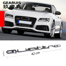 Quattro Mounting Emblem Logo Badge Mark Car Front Bumper Grills Grille Lower Mesh Trim For Audi A4L A5 A6 A7 RS5 RS6 RS7 RS Q3
