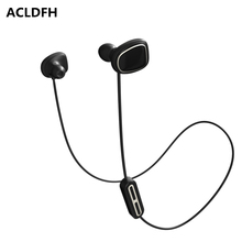ACLDFH Wireless Bluetooth Earphone Noise Cancelling Headphones Sport Running Earbuds Headset with Mic 5 EQ Bass Stereo Up 8h(China)