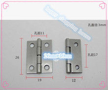Hardware supplies Stainless steel 304 hinge  silver hinge gift box small hinge 26mm*19mm