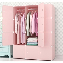 Hot Sale Clothes Wardrobe Closet Dustproof DIY Closet Assembled Wardrobes Modern Bedroom Furniture Design Storage Cabinet
