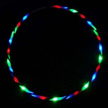 "Promotion 36"" / 90cm LED Glow Hula Hoop 24 LED Multicolor Performance Hoop Sports Toys Loose Weight wholesale(China)"