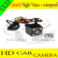 Rear view camera ccd/ CCD Night color car reversing video system for universal camera /rear carmera Angle adjustable(China)