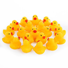 10 Pcs/lot Kawaii Baby Floating Squeaky Rubber Ducks Kids Bath Toys for Children Boys Girls Water Swimming Pool Fun Playing Toy