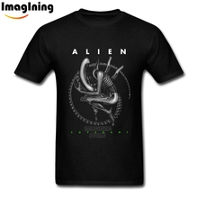 Mens Summer Alien Covenant IV Logo Prometheus T Shirts White Short Sleeve Small Sized Unique Men's T-shirt(China)