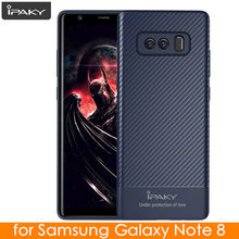 for Samsung Note 8 Case Original IPAKY Carbon Fiber Skin Hybrid Silicone Protective Soft Cover for Samsung Galaxy Note 8 Case(China)