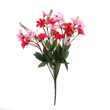 Hot Bunch of Artificial Daisy Flower Bouquet for Home / Office / Party Decoration (Rose Red+Pink)