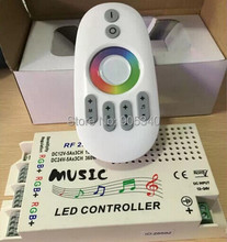DC12-24V Wireless RF 2.4G Remote Control LED Music Controller RGB led Controller for RGB LED Strips free shipping