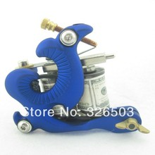 One 10 Wrap Coils Aluminum Alloy Frame Tattoo Machine Gun For Kit Set Supply DTM01-A