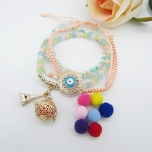 New Bohemia Model Various Beads and Braided Cord Mixture Women`s DIY Openable Locket Essential Oil Diffuser Bracelet(China)