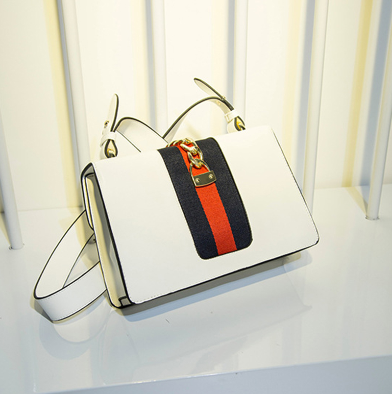 M.S Scarves Panelled Striped Handbags Made Of Leather Brand Small Vogue Shoulder Bags Women Totes Luxury Designer Handbag WB398 (15)