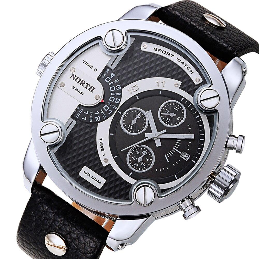 Luxury Brand North Watches Men Sports Leather Waterproof Quartz Pulse Male Watch Free shipping Feida<br><br>Aliexpress