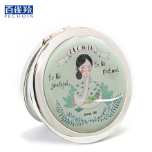 Folding makeup mirror Traditional Chinese famous brand PEHCHAOLIN 1 circle portable mini mirror