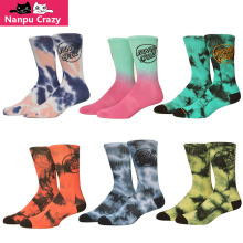 2017 Santa Cruz Socks Skateboard High Quality Cotton Basketball Socks Sport Colorful Tie Dye Funny Socks