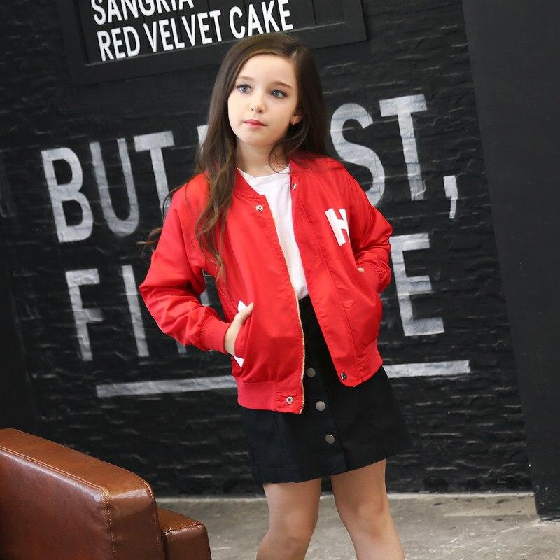 2016 Girls Autumn Fall Fahion Outwear Kids Children Cool Windbreaker Teens Jacket for Kids Age 4 5 6 7 8 9 10 11 12T Years Old<br>