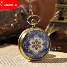 New Design  New Roman Numerals Mechanical Pocket Watch With Chain Vintage Skeleton Pocket Watch Cool Steampunk Watches  PW093