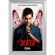 Silver Color Aluminum Alloy poster Frame Home Decor Custom Canvas Frame Dexter Season Canvas Poster Frame F170112#61(China)