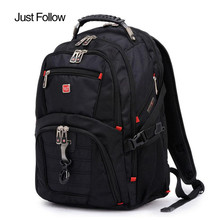 Just Follow Hot Sale 15Inch Backpacks Male Bag Men and Women Laptop Backpack Luggage & Men's Travel Bags Mochila Masculina