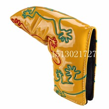2016 OEM Golf Putter Cover with Magnetic Closure for Blade Golf Putter Cute Gecko Golf Headcover Red Yellow Green Head Cover(China)