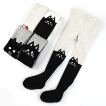 Spring Autumn Girls Tights Cartoon Cat Baby Girl Gift Pantyhose Fashion Knitted Cotton Cute kids Stocking Baby Pantyhose zl674