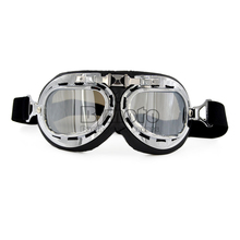 BJMOTO Universal Vintage Pilot Biker Old Shool Motorcycle Glasses for Helmet Open Face Half Cycling Cruiser Steampunk ATV(China)