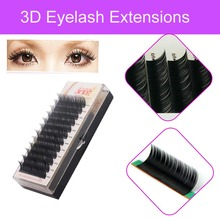 All Sizes Eyelash Extension Natural Long soft Hand Made Korean Heat Resistant 3D Individual Eyelash Extension With Free Shipping(China)