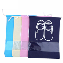 10Pcs/lot Travel Shoes Bags for Girls Women Dustproof Cover Shoes Bags Non-Woven Fabric Travel Beam Port Shoes Storage Bags(China)