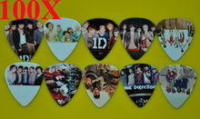 Lots of 100Pcs Rock Band 1 D One Direction 2 sides printing Guitar Picks Medium