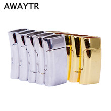 AWAYTR 2017 5Pcs/Lot Hot Sale 10*5 mm Magnetic Clasps for Leather Bracelets DIY Silver Magnetic Closure accessories for jewelry(China)