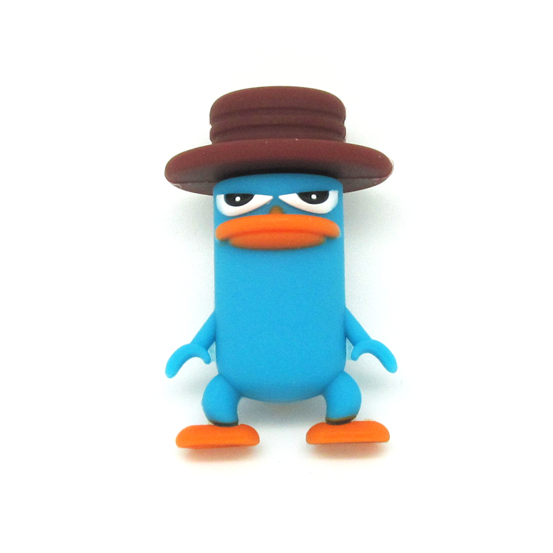 Perry the Platypus usb flash dive cartoon pen drive blue duck usb stick 32g/16g/8g/4g pendrive real capacity(China (Mainland))
