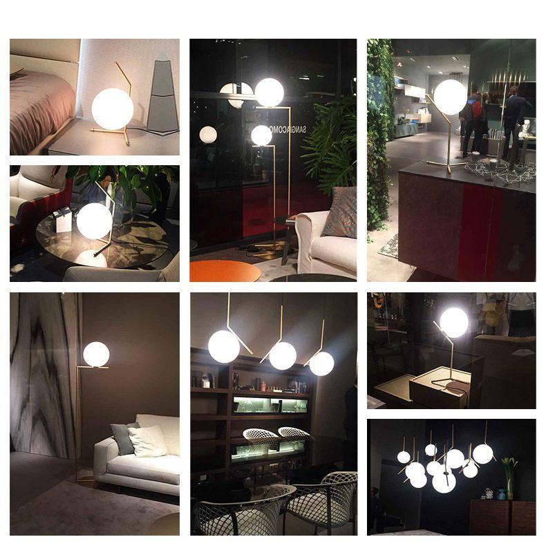 Modern LED Floor Lamp Floor Light Shade Glass Ball Standing Lamp for Bedroom Living Room Gold Designs (7)