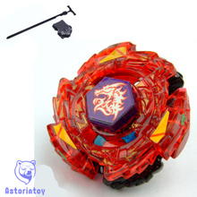 1pcs Beyblade Metal Fusion 4D set   Ultimate Meteo L-Drago Rush Red Dragon BB-98 of Reshuffle Set   Christmas gift with launcher