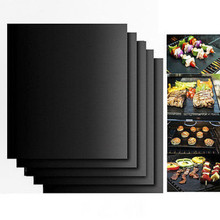 40*33cm  2/3/5PCS Lot BBQ GRILL MAT Sheets Reusable Non-stick Make Grilling Easy BBQ Barbecue Grill Mat