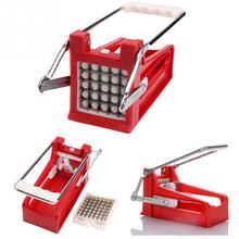HOT new Stainless Steel Home French Fries Potato Chips Strip Cutting Cutter Machine Maker Slicer Chopper Dicer + 2 Blades
