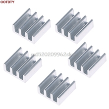 5pcs High Quality 11x11x5mm Aluminum Heat Sink For Memory Chip IC Silver #H029#