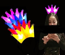 LED Crystal Crown Headbands Light Up Party Rave Fancy Dress Costume Light Up Party Flashing Headbands Christmas Holiday Favors