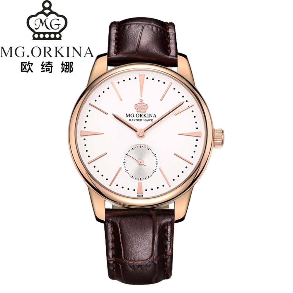 ORKINA Mens Watches Top Luxury Brand Quartz Watch Casual Leather Sports Wristwatch Montre Homme Male Clock Relogio Masculino<br>