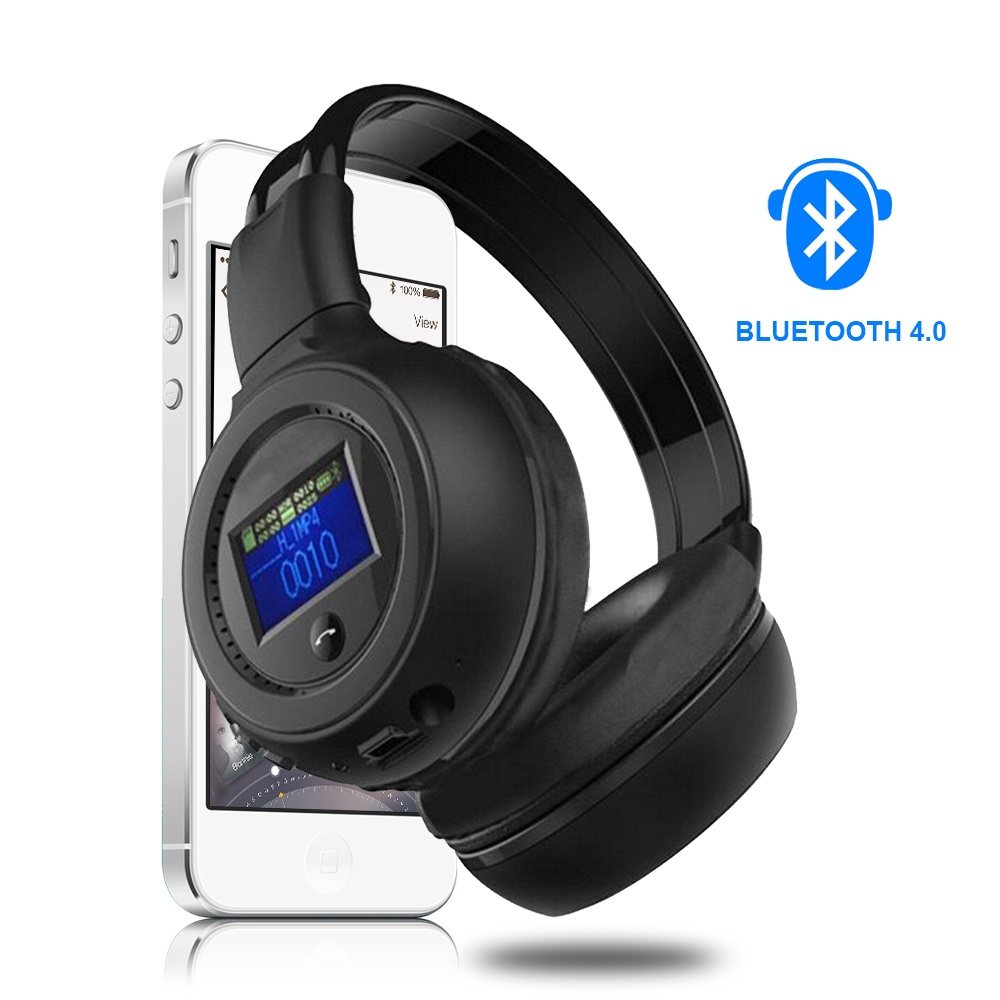 Bluetooth Wireless Headphone Foldable With LCD Screen Multi-Function Build-in HD MIC headset&amp;FM Radio&amp;TF Card Slot MP3<br><br>Aliexpress