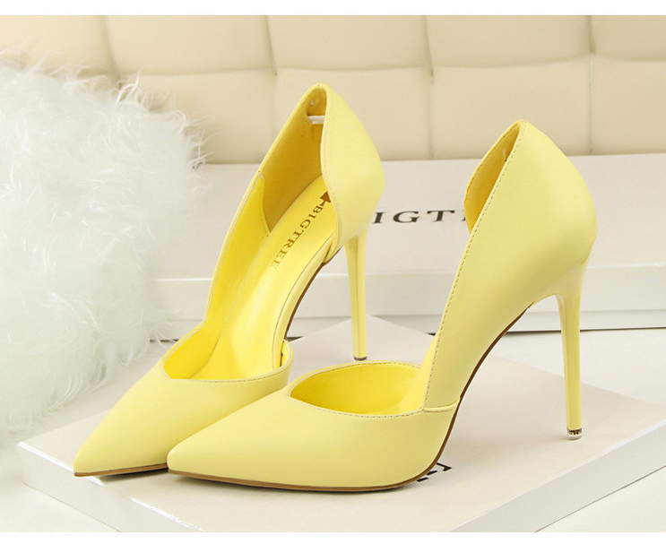 Women Pumps Fashion High Heels Shoes Black Pink Yellow Shoes Women bridal Wedding Shoes Ladies 21