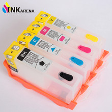 4PCS for HP178 178XL Refillable Ink Cartridge for HP Photosmart  5510 5515 6510 7510 B109a B109n B110a Printer With Chip 4 color