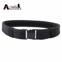 "1.5"" Men Outdoor Adjustable Sport Waist Belt Durable 600D Nylon Tactical Military Airsoft Load Bearing Combat Duty Web Belt"