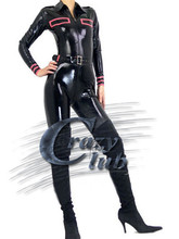 Buy Crazy club_Customized Women Uniform Clothes Fetish catwoman latex catsuit belt Latex Uniform Hotline Sale Fast Delivery