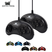 Classic Wired 6 Buttons SEGA USB Classic Gamepad USB Game Controller Joypad for SEGA Genesis/MD2 Y1301/ PC /MAC Mega Drive(China)