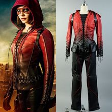 2016 Arrow Season 4 Speedy Thea Queen Red Cosplay Costume Super Hero Leather Costume For Halloween Party  Adult Women