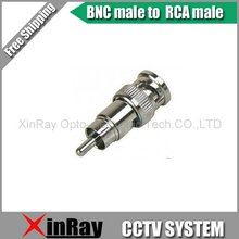 Free Shipping High Quaility 10pcs BNC male to RCA male Adapter ,CCTV AccessoriesWholesale XR-AC9