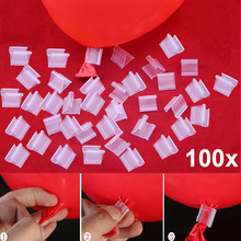 100pcs Latex Balloon PVC Clips Balloons Sealing Clamps Balls Accessories Clip Ballon Buttons Party Supplies LS