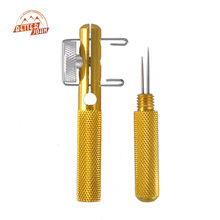 Aluminum Alloy Fishing Hook Tier Double-headed Needle Strand Knotter Knots Tie Fishing Line Knotter Fishhook Tie Device(China)