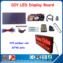 6pcs P10 Modules LED Board,32*96 pixels Outdoor Red LED Display Screen Outdoor LED Panel Waterproof LED Moving Sign(China)