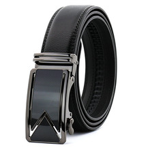 LannyQveen fashion cow Leather Belt men's Automatic buckle belts for men business good quality wholesale 242 free shipping