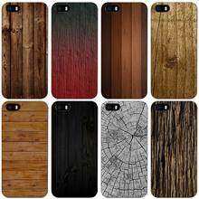 texture wood Black Plastic Case Cover Shell for iPhone Apple 4 4s 5 5s SE 5c 6 6s 7 Plus